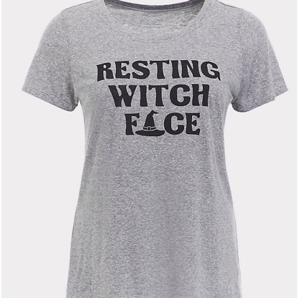 f9bf20aac78 HALLOWEEN Torrid 2 RESTING WITCH FACE TEE